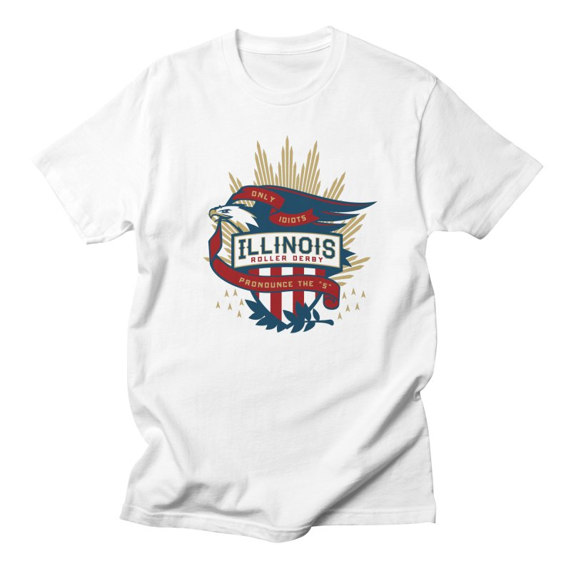 Team Illinois in Men's Regular T-Shirt White by Chicago Bruise Brothers Roller Derby