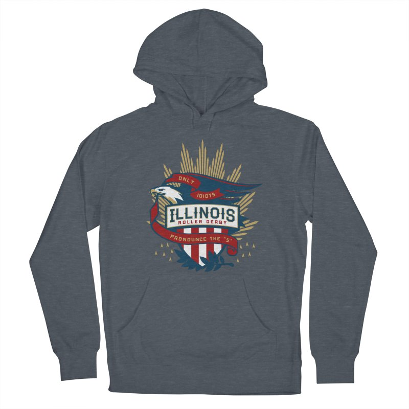 Team Illinois Men's French Terry Pullover Hoody by Chicago Bruise Brothers Roller Derby