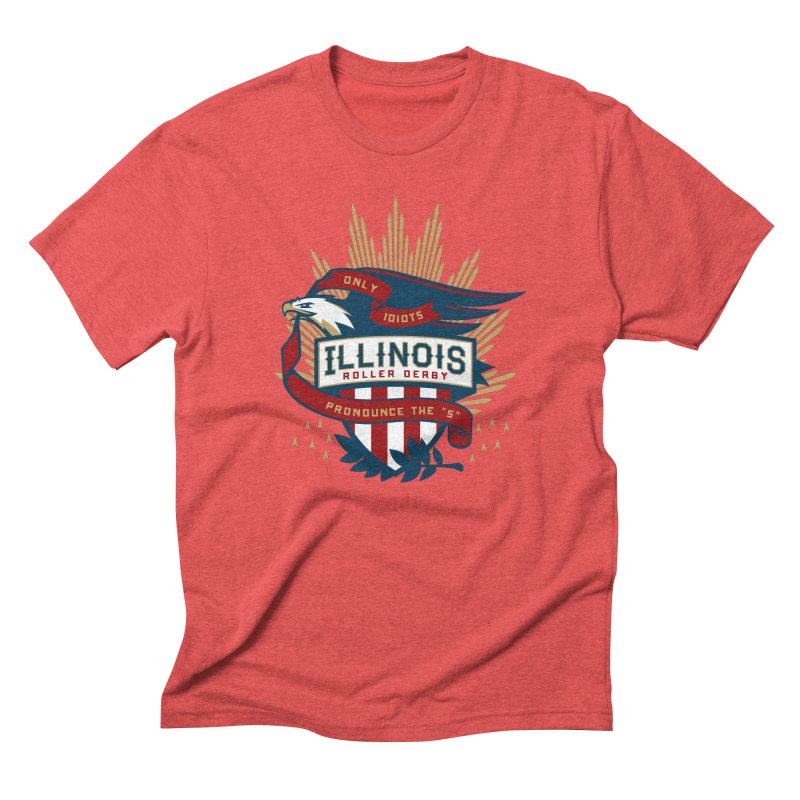 Team Illinois Men's Triblend T-Shirt by Chicago Bruise Brothers Roller Derby