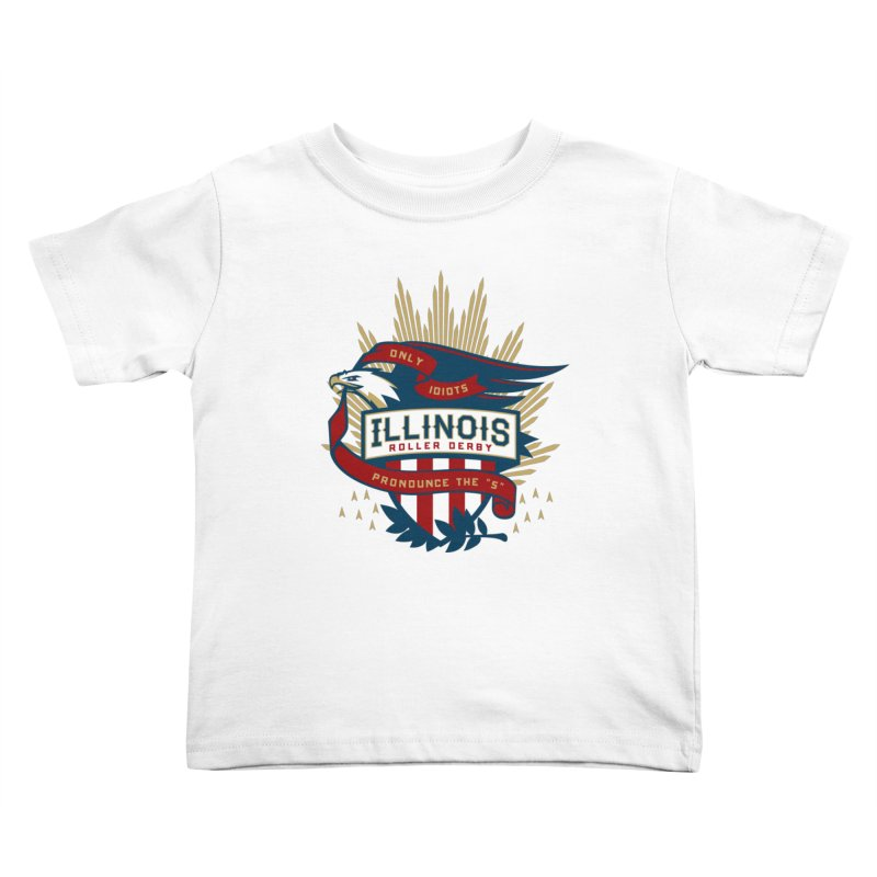 Team Illinois Kids Toddler T-Shirt by Chicago Bruise Brothers Roller Derby