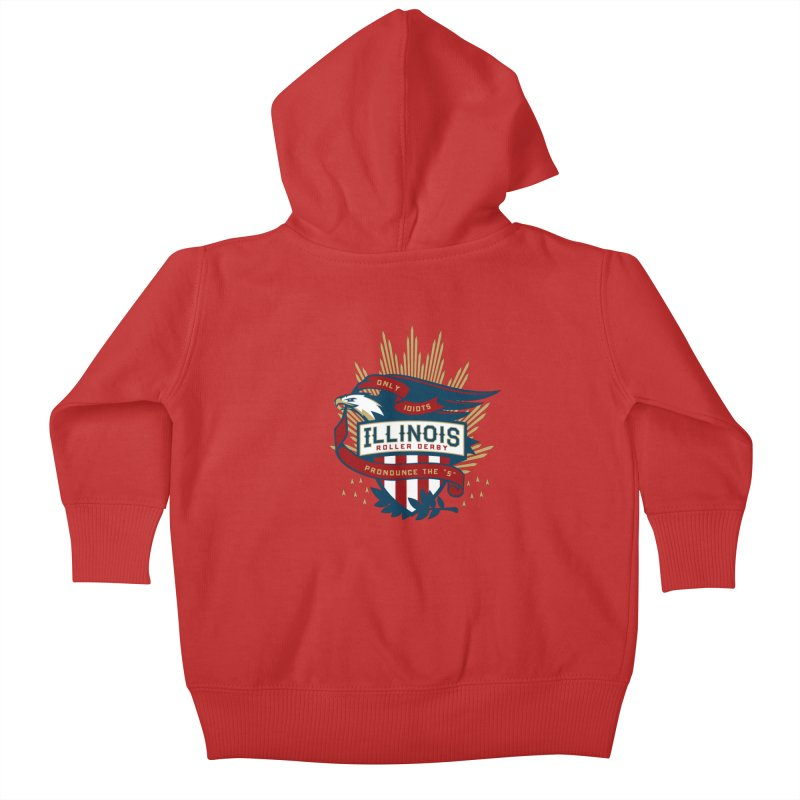 Team Illinois Kids Baby Zip-Up Hoody by Chicago Bruise Brothers Roller Derby