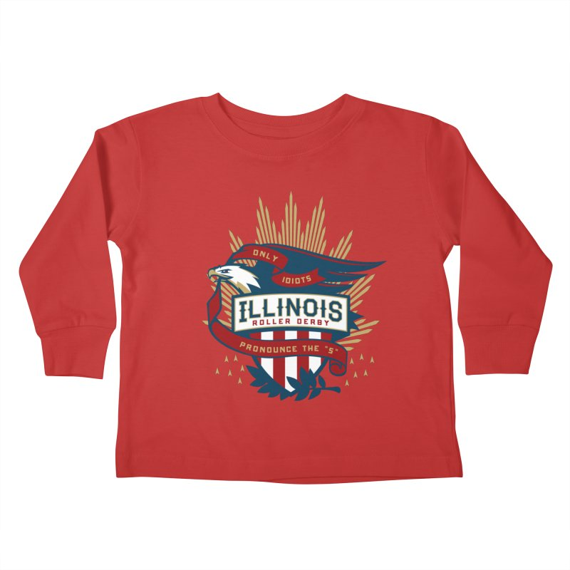 Team Illinois Kids Toddler Longsleeve T-Shirt by Chicago Bruise Brothers Roller Derby