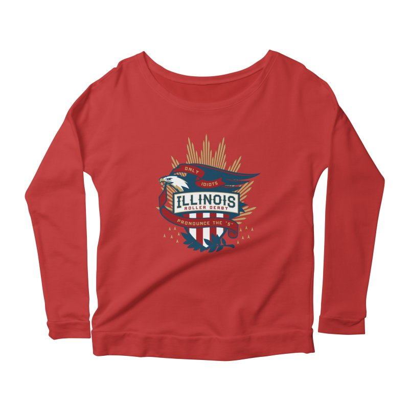 Team Illinois Women's Scoop Neck Longsleeve T-Shirt by Chicago Bruise Brothers Roller Derby