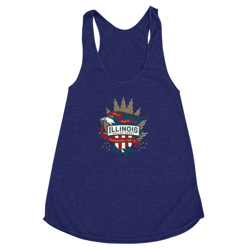 Team Illinois Women's Racerback Triblend Tank by Chicago Bruise Brothers Roller Derby
