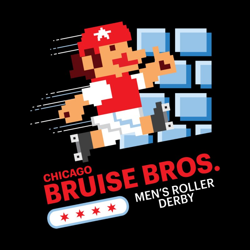 Super Bros. Men's Longsleeve T-Shirt by Chicago Bruise Brothers Roller Derby