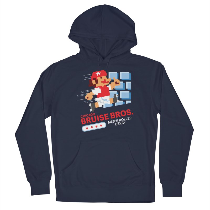 Super Bros. Men's Pullover Hoody by Chicago Bruise Brothers Roller Derby