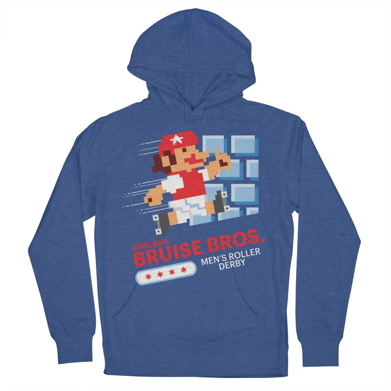 Super Bros. Men's French Terry Pullover Hoody by Chicago Bruise Brothers Roller Derby