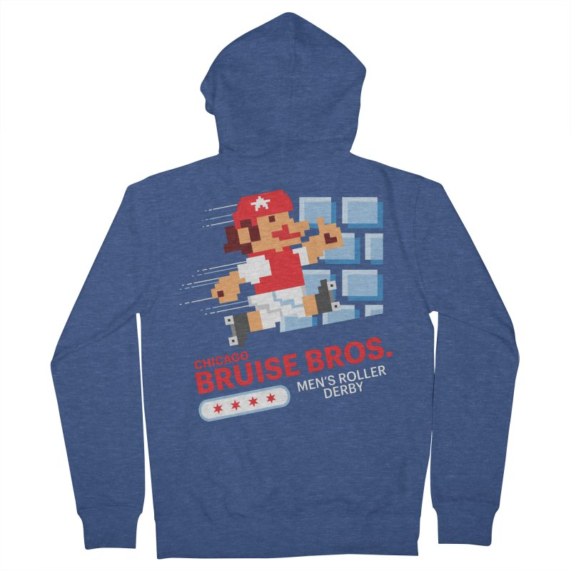 Super Bros. Women's French Terry Zip-Up Hoody by Chicago Bruise Brothers Roller Derby