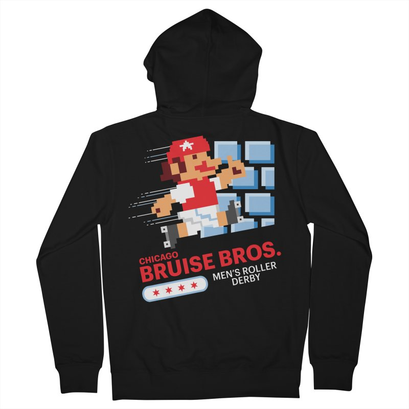 Super Bros. Men's French Terry Zip-Up Hoody by Chicago Bruise Brothers Roller Derby