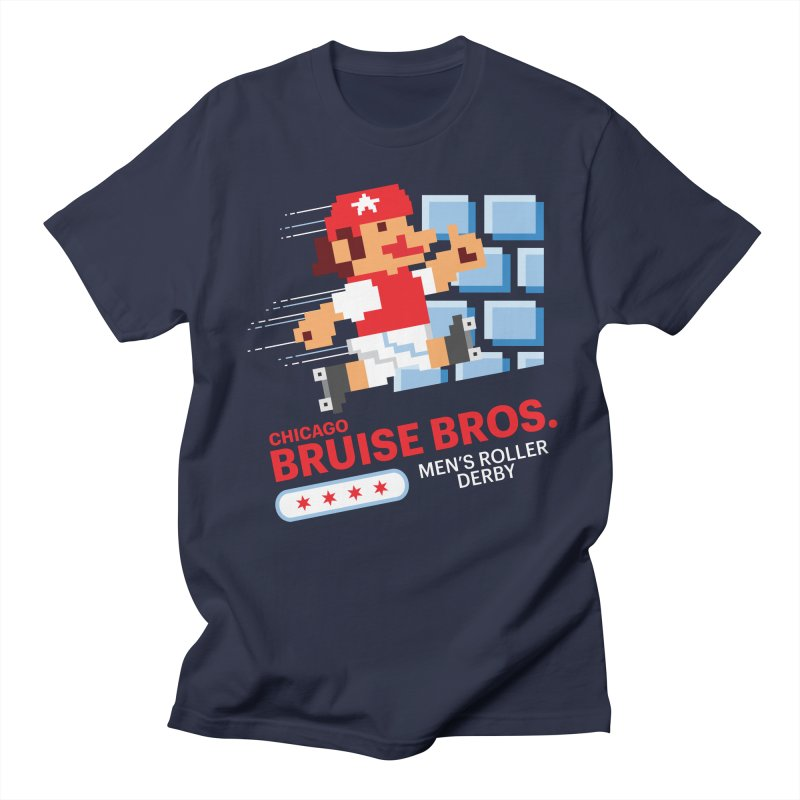 Super Bros. Men's Regular T-Shirt by Chicago Bruise Brothers Roller Derby