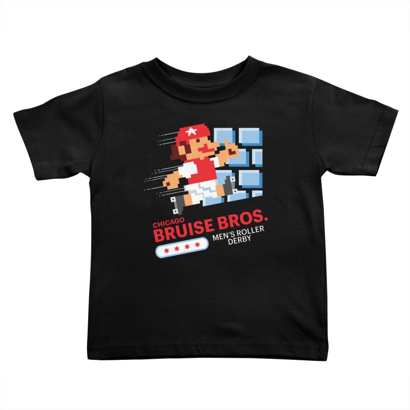 Super Bros. Kids Toddler T-Shirt by Chicago Bruise Brothers Roller Derby