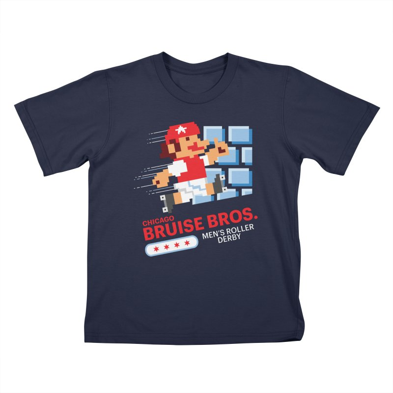 Super Bros. Kids T-Shirt by Chicago Bruise Brothers Roller Derby