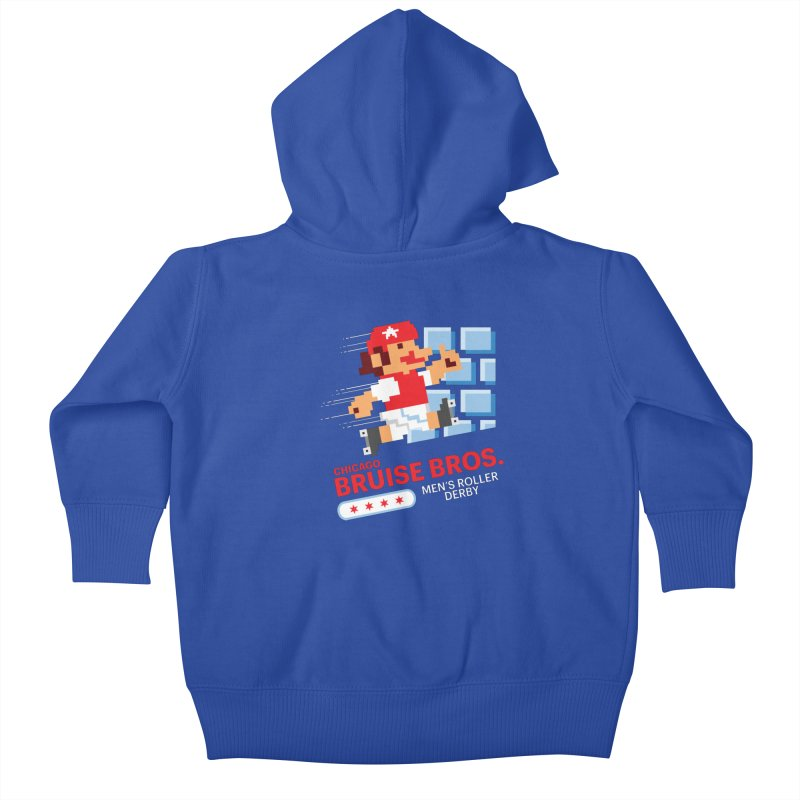 Super Bros. Kids Baby Zip-Up Hoody by Chicago Bruise Brothers Roller Derby