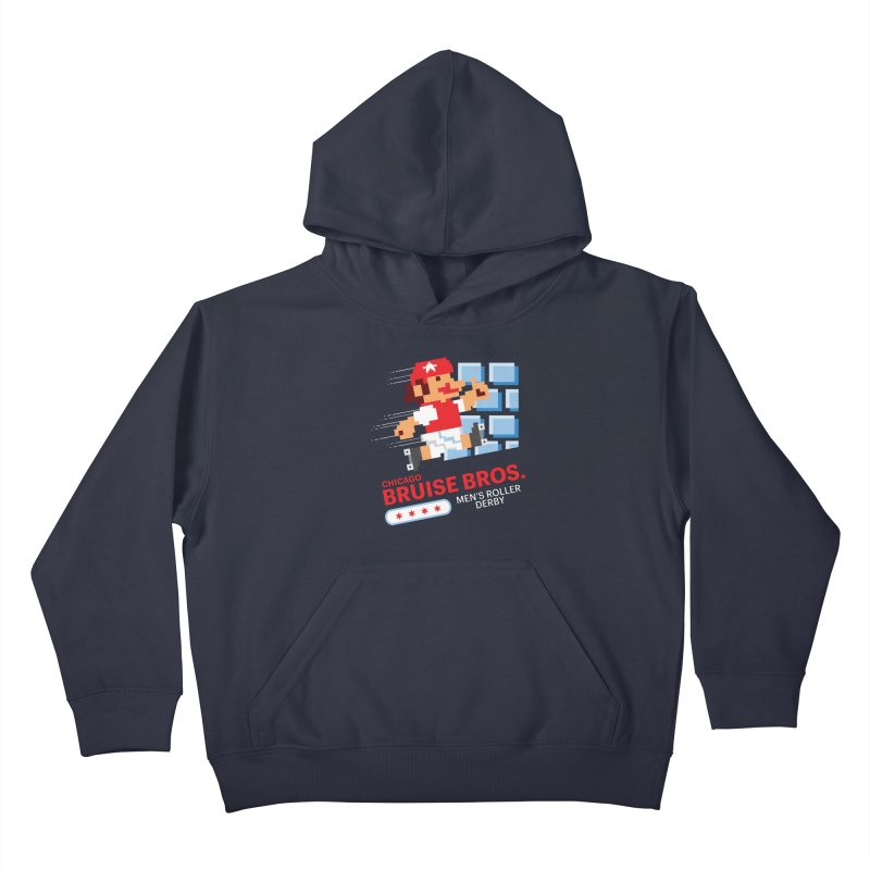 Super Bros. Kids Pullover Hoody by Chicago Bruise Brothers Roller Derby