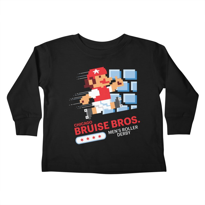 Super Bros. Kids Toddler Longsleeve T-Shirt by Chicago Bruise Brothers Roller Derby
