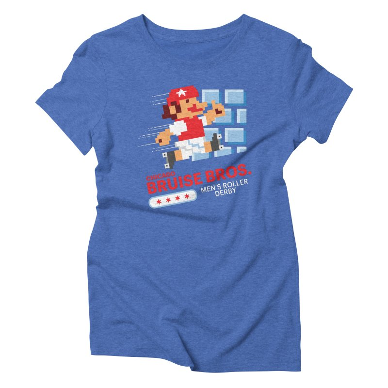 Super Bros. Women's Triblend T-Shirt by Chicago Bruise Brothers Roller Derby