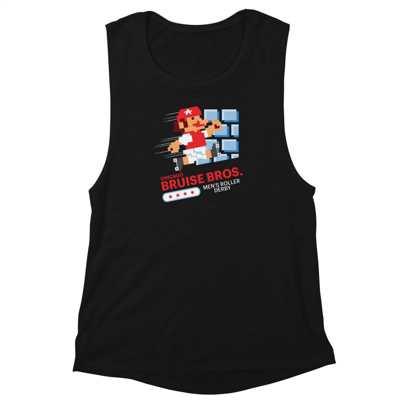 Super Bros. Women's Muscle Tank by Chicago Bruise Brothers Roller Derby