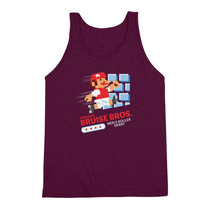 Super Bros. Men's Triblend Tank by Chicago Bruise Brothers Roller Derby