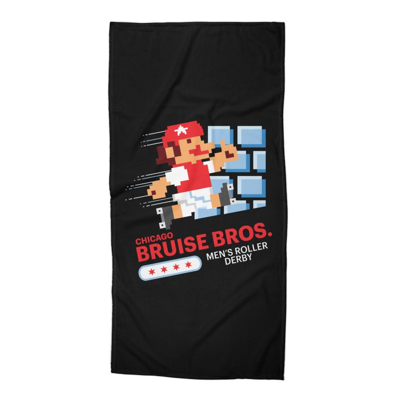 Super Bros. Accessories Beach Towel by Chicago Bruise Brothers Roller Derby