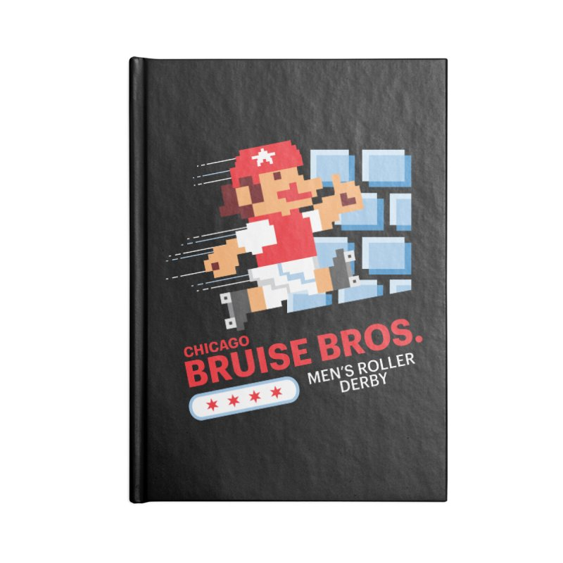 Super Bros. Accessories Lined Journal Notebook by Chicago Bruise Brothers Roller Derby