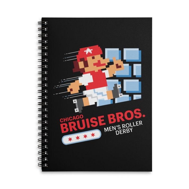 Super Bros. Accessories Lined Spiral Notebook by Chicago Bruise Brothers Roller Derby