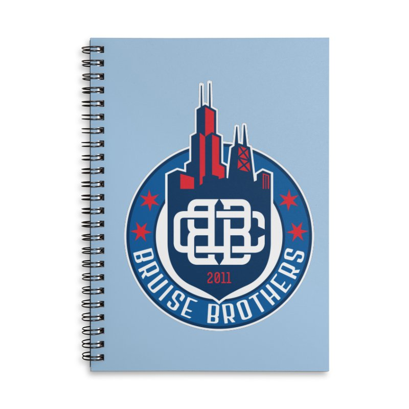 Chicago Bruise Brothers - Since 2011 Accessories Lined Spiral Notebook by Chicago Bruise Brothers Roller Derby