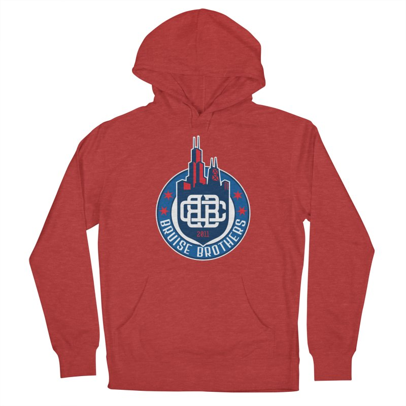 Chicago Bruise Brothers - Since 2011 Men's French Terry Pullover Hoody by Chicago Bruise Brothers Roller Derby