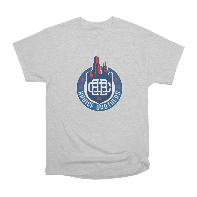 Chicago Bruise Brothers - Since 2011 Men's Heavyweight T-Shirt by Chicago Bruise Brothers Roller Derby