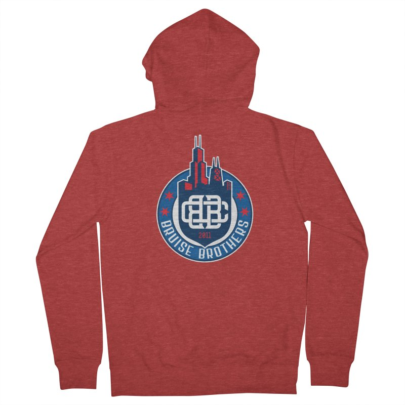Chicago Bruise Brothers - Since 2011 Men's French Terry Zip-Up Hoody by Chicago Bruise Brothers Roller Derby