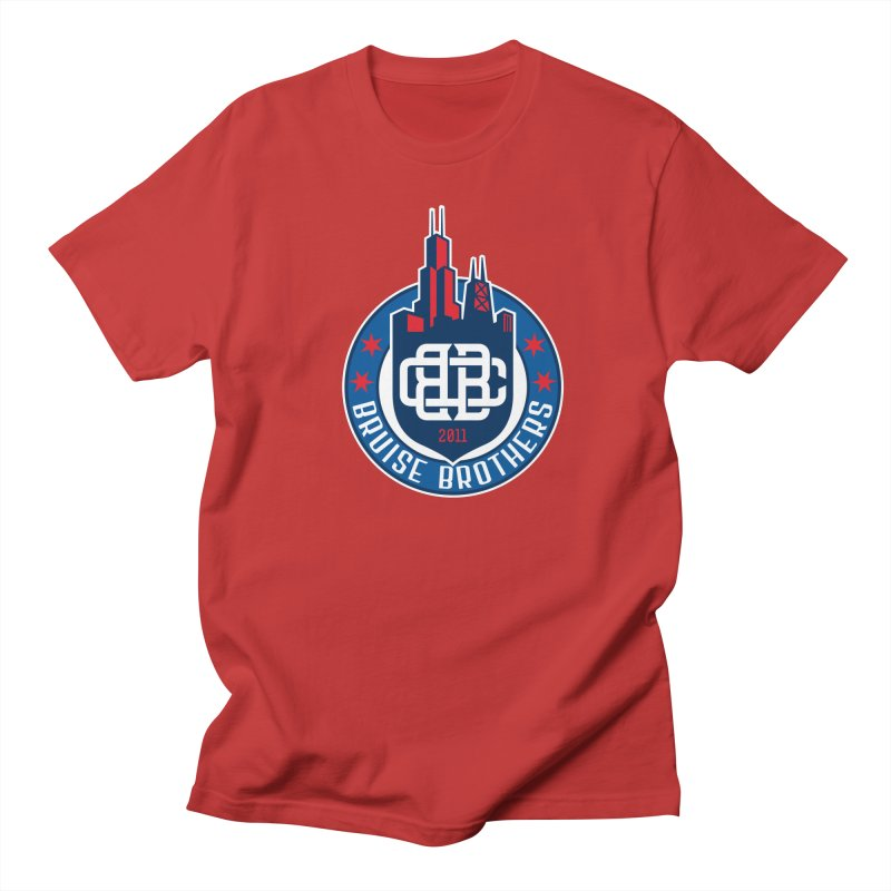 Chicago Bruise Brothers - Since 2011 Men's Regular T-Shirt by Chicago Bruise Brothers Roller Derby