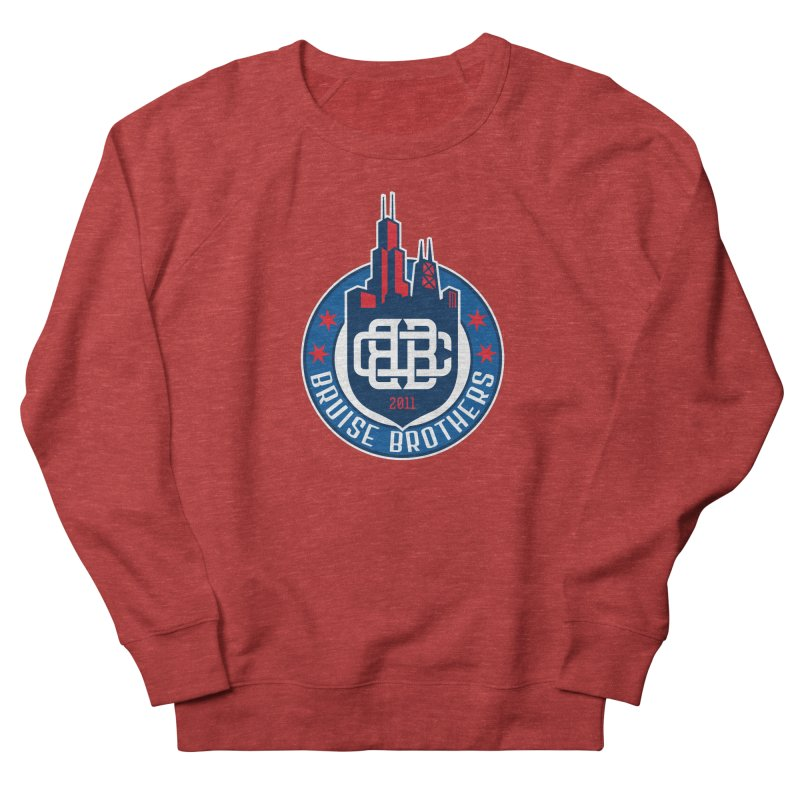 Chicago Bruise Brothers - Since 2011 Men's French Terry Sweatshirt by Chicago Bruise Brothers Roller Derby