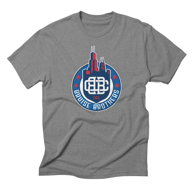 Chicago Bruise Brothers - Since 2011 Men's Triblend T-Shirt by Chicago Bruise Brothers Roller Derby