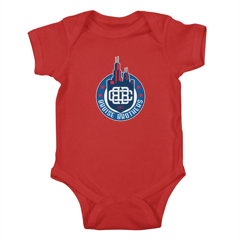 Chicago Bruise Brothers - Since 2011 Kids Baby Bodysuit by Chicago Bruise Brothers Roller Derby