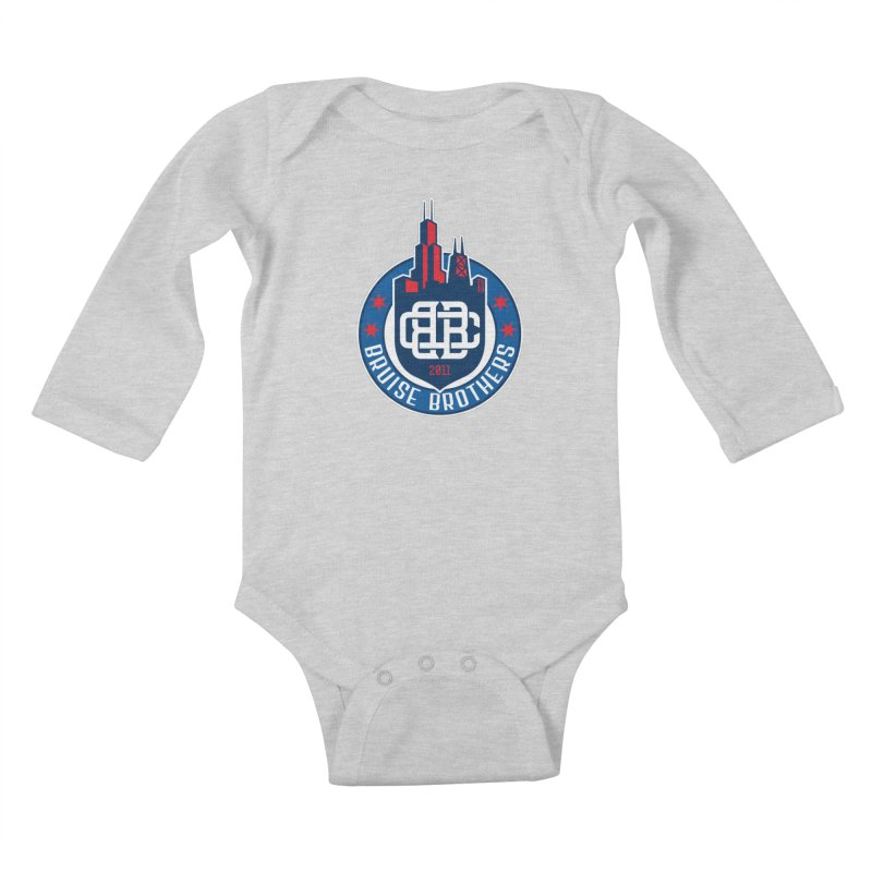Chicago Bruise Brothers - Since 2011 Kids Baby Longsleeve Bodysuit by Chicago Bruise Brothers Roller Derby