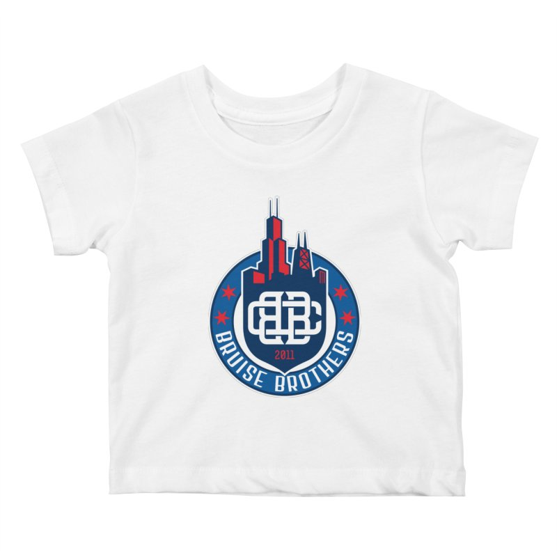 Chicago Bruise Brothers - Since 2011 Kids Baby T-Shirt by Chicago Bruise Brothers Roller Derby