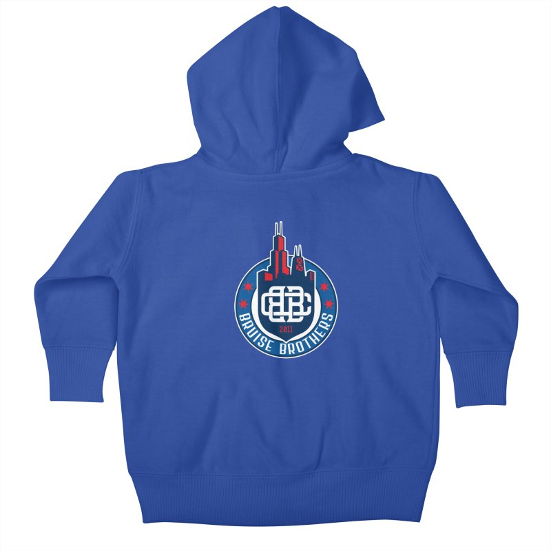 Chicago Bruise Brothers - Since 2011 Kids Baby Zip-Up Hoody by Chicago Bruise Brothers Roller Derby