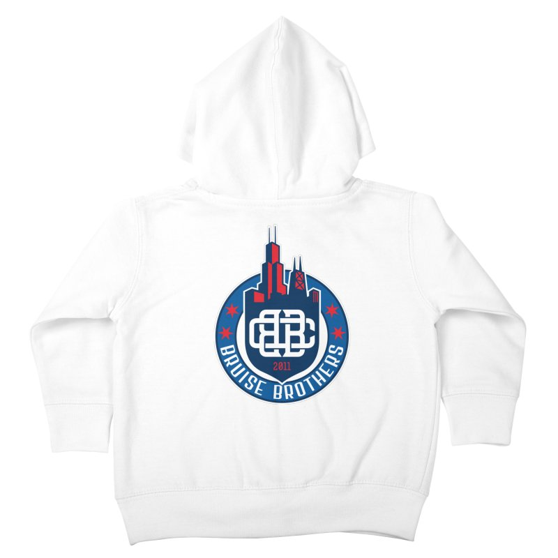 Chicago Bruise Brothers - Since 2011 Kids Toddler Zip-Up Hoody by Chicago Bruise Brothers Roller Derby