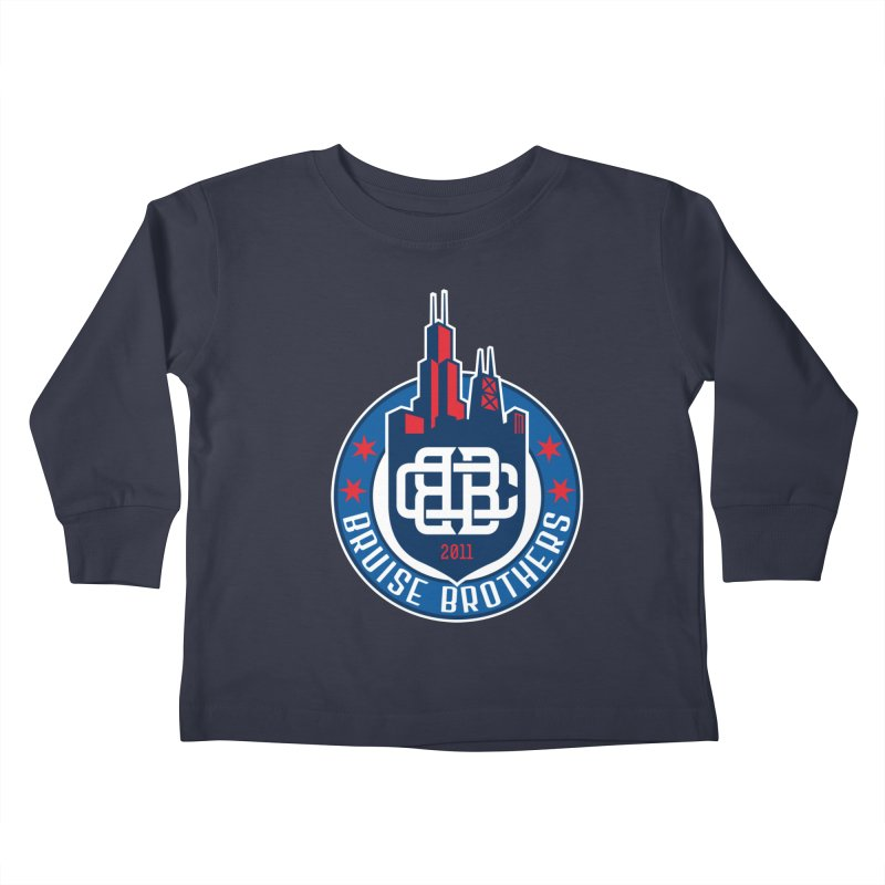 Chicago Bruise Brothers - Since 2011 Kids Toddler Longsleeve T-Shirt by Chicago Bruise Brothers Roller Derby