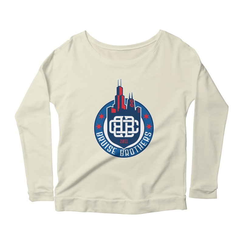 Chicago Bruise Brothers - Since 2011 Women's Scoop Neck Longsleeve T-Shirt by Chicago Bruise Brothers Roller Derby
