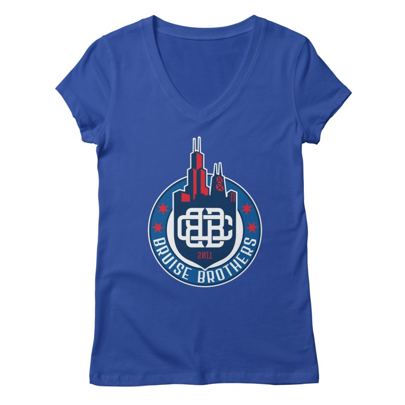 Chicago Bruise Brothers - Since 2011 Women's Regular V-Neck by Chicago Bruise Brothers Roller Derby