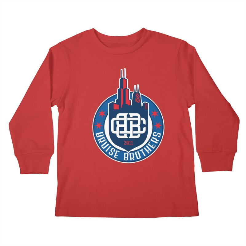 Chicago Bruise Brothers - Since 2011 Kids Longsleeve T-Shirt by Chicago Bruise Brothers Roller Derby