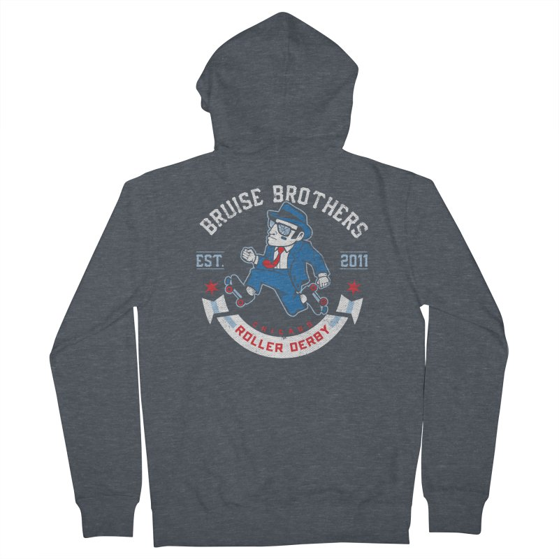 Old School Bruiser Women's French Terry Zip-Up Hoody by Chicago Bruise Brothers Roller Derby