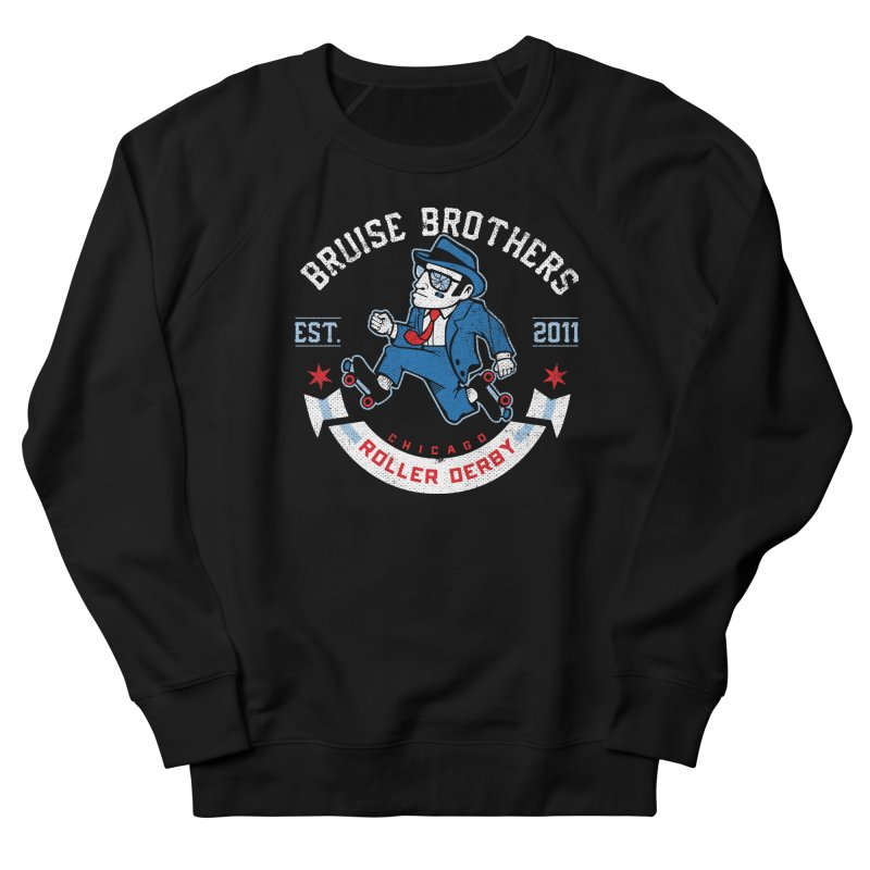 Old School Bruiser Men's French Terry Sweatshirt by Chicago Bruise Brothers Roller Derby