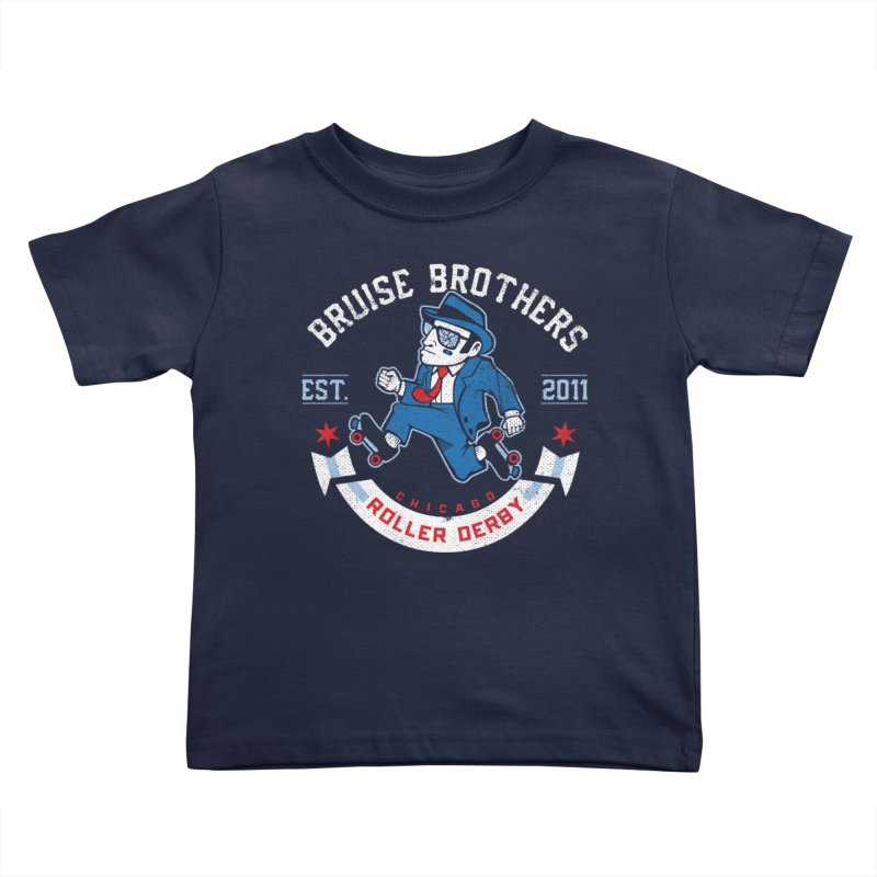 Old School Bruiser Kids Toddler T-Shirt by Chicago Bruise Brothers Roller Derby