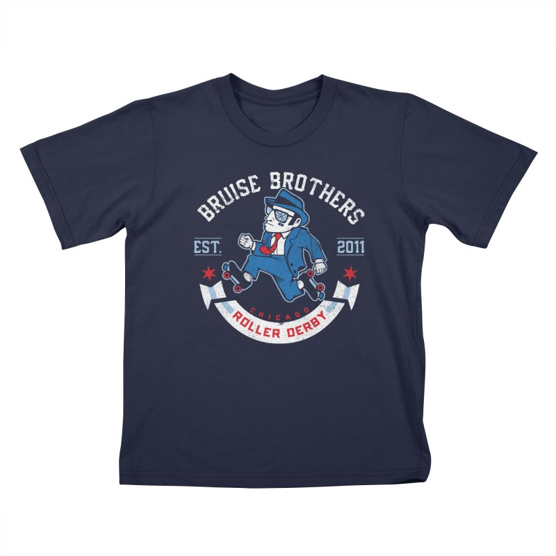 Old School Bruiser Kids T-Shirt by Chicago Bruise Brothers Roller Derby
