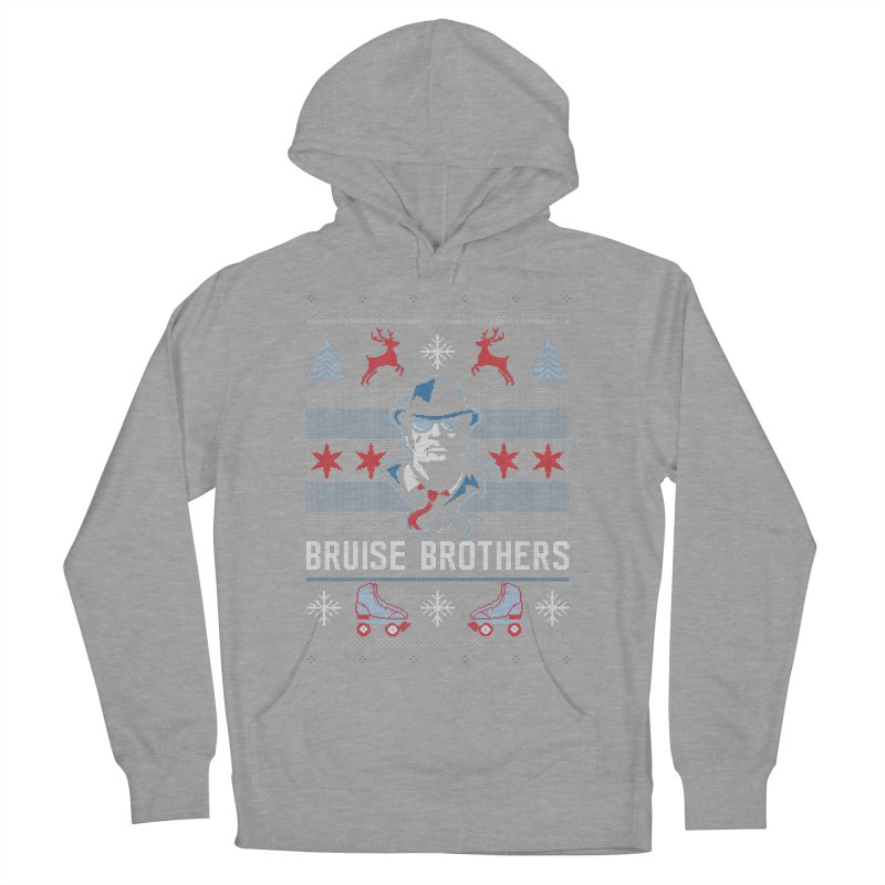 Bros Ugly Sweater Women's French Terry Pullover Hoody by Chicago Bruise Brothers Roller Derby