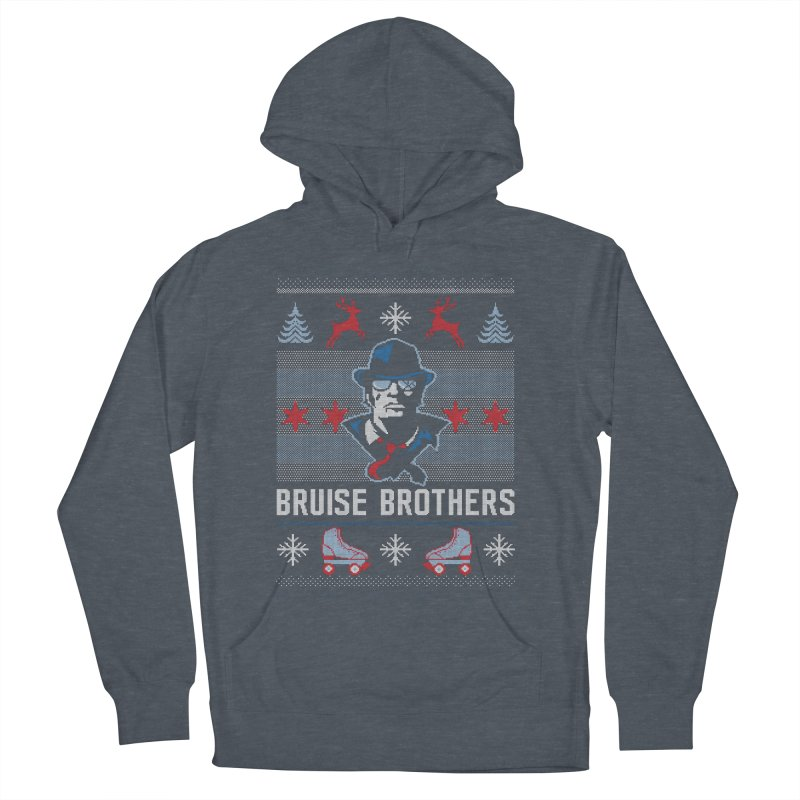 Bros Ugly Sweater Men's French Terry Pullover Hoody by Chicago Bruise Brothers Roller Derby