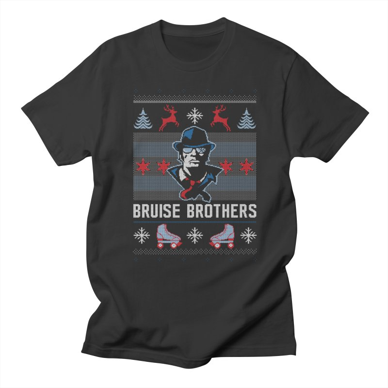 Bros Ugly Sweater Men's Regular T-Shirt by Chicago Bruise Brothers Roller Derby