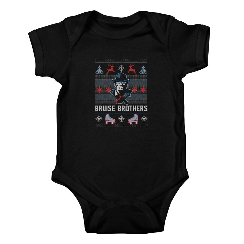 Bros Ugly Sweater Kids Baby Bodysuit by Chicago Bruise Brothers Roller Derby