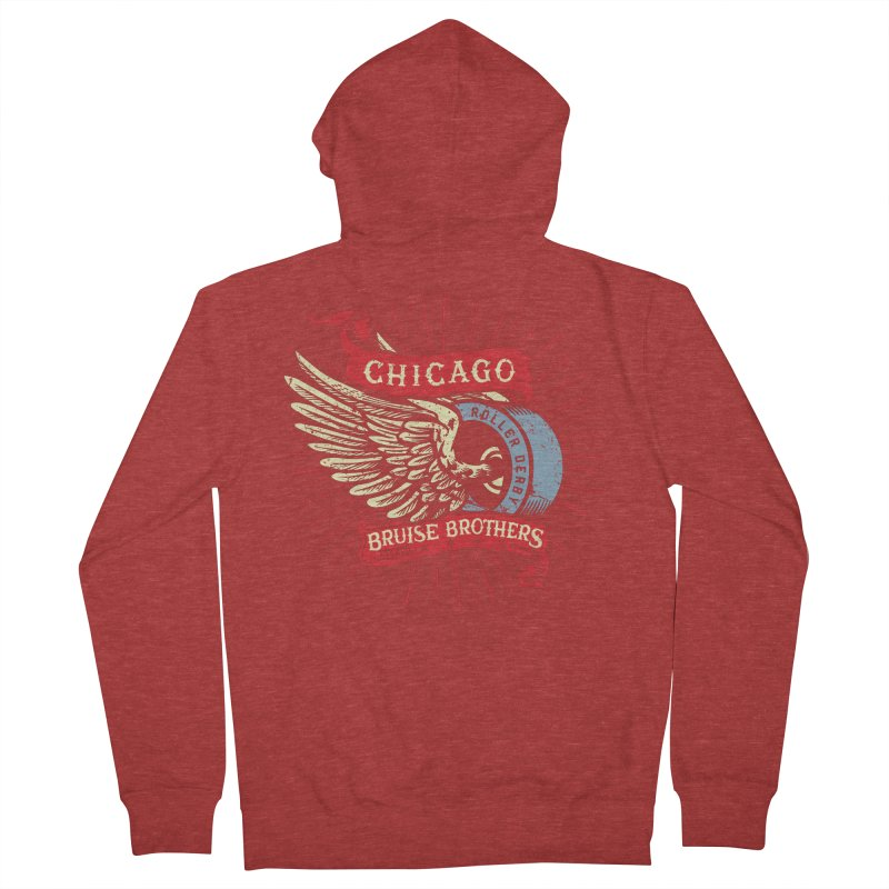Heritage Design Women's French Terry Zip-Up Hoody by Chicago Bruise Brothers Roller Derby